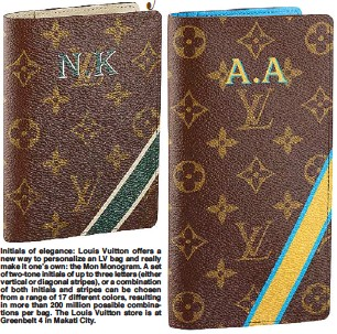 3330700628 Initials of elegance  Louis Vuitton offers a new way to personalize an LV  bag and really make it one s own  the Mon Monogram. A set of two-tone  initials of ...