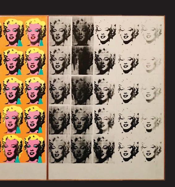 ??  ?? Marilyn Diptych Autor: Andy Warhol Ano: 1962 Técnica: Serigrafia e tinta acrílica em tela Tamanho: 205,44 x 289,56 cm Local: Museu Tate Modern