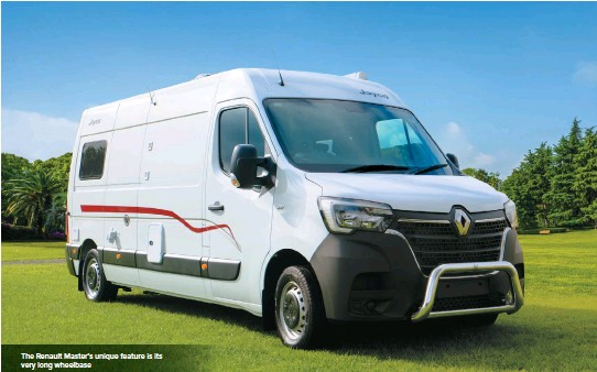 ??  ?? The Renault Master's unique feature is its very long wheelbase