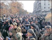 ?? Picture: EPA ?? People flee the Al-Salhen neighbourhood in eastern Aleppo, Syria, this week as Syrian government forces carry out a large-scale offensive to expel insurgents. There have been deplorable gas attacks on both sides.