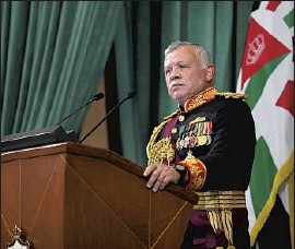 """?? Yousef Allan Royal Hashemite Court ?? SECURITY forces under King Abdullah II, above, arrested 18 associates of Prince Hamzah suspected in a plot to """"destabilize Jordan's security and stability."""""""
