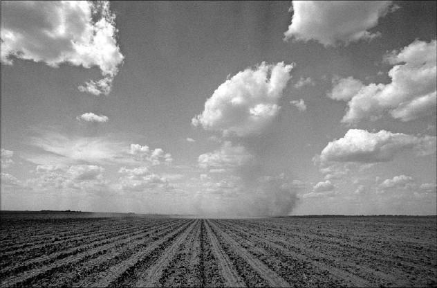 """?? File Photo/Staff ?? A """"dust devil"""" rolls across a field near Sweetwater, Texas."""