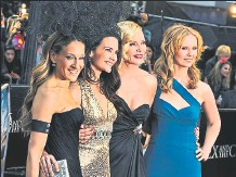 ?? Efe ?? • En una foto del 2010, Sarah Jessica Parker (izq.), Kristin Davis, Kim Cattrall y Cynthia Nixon.