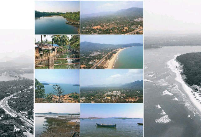 ??  ?? Opposite page: The region of Karwar has a complex diversity of natural and cultural elementsThis page: Snapshots of key landmarks and the natural topography of Karwar