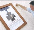 ??  ?? The unveiling of the artwork dedicated to L/Cpl Cotter at The Ship Inn