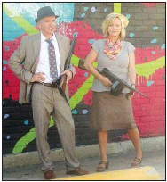 """??  ?? Ruby and Rodney Dean will portray Bonny and Clyde when the Fort Smith Museum of History hosts """"A Walk Through Time: A Guided Walking Tour"""" on April 17. (Courtesy Photo)"""