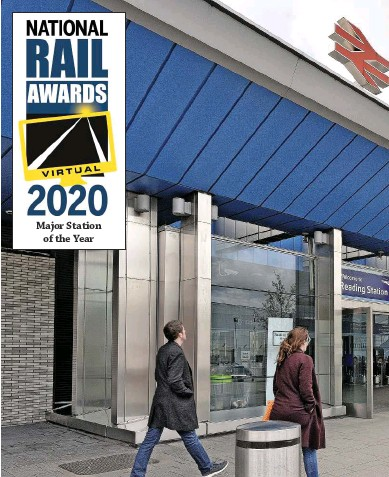 ?? NET­WORK RAIL. ?? The £900 mil­lion re­de­vel­op­ment of Read­ing sta­tion in­cluded the con­struc­tion of a new foot­bridge on the west­ern side of the sta­tion that in­cor­po­rates a new south­ern en­trance for ticket hold­ers only.