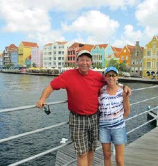 ??  ?? Linda and Terry Strevens have used their Air Miles for a number of trips, such as flying to Florida. From there, they took a cruise to Curacao.