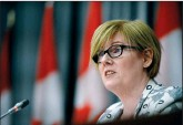 ?? CP FILE PHOTO ?? Minister of Employment, Workforce Developmen­t and Disability Inclusion Carla Qualtrough holds a press conference in Ottawa on July 17, 2020.