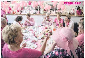 ??  ?? FEBRUARY BOWLED OVER: The annual Pink Stumps High Tea at Euroa's Memorial Oval was a great success once again with 180 ladies dressed in pink in attendance to raise money for the McGrath Foundation.