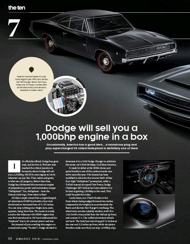 Pressreader Top Gear Uk 2018 11 29 Dodge Hellephant