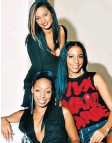 ??  ?? i Alesha Dixon with daughter Azura, seven, right; and her former Mis-Teeq bandmates, above
