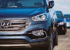 ?? BLOOMBERG PIC ?? Hyundai Motor Co builds the Sonata and Elantra sedans and Santa Fe Sport crossovers in the US.