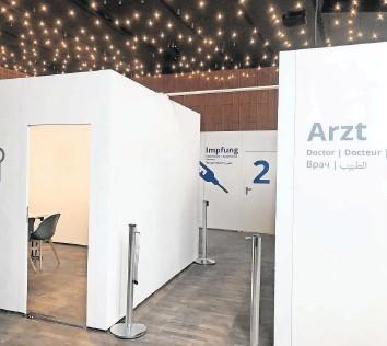 """??  ?? Im """"Ballhaus zum fidelen Anreischken""""in Duderstadt ist das mobile Impfzentrum des Landkreises eingerichtet und temporär beibehalten worden."""