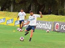 ??  ?? Andrés Andrade esperaba el llamado a la selección Colombia y lo recibió. Ha trabajado fuerte y no quiere dejar ir la opción de seguir.FCF