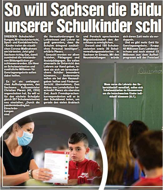 ??  ?? Wenn vorne die Lehrerin den Unterrichtsstoff vermittelt, sollen sich Schulassistenten im Klassenraum um die lernschwachen Kinder individuell kümmern (kl.F.).