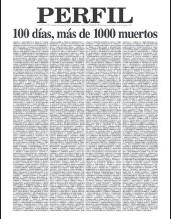 ??  ?? 27/6/2020. Nuestra tapa con mil muertos.