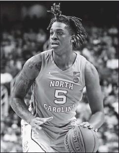 ?? THE ASSOCIATED PRESS ?? North Carolina forward Armando Bacot, a former Trinity Episcopal standout, could help the Tar Heels return to form this season.