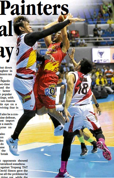 ?? AUGUST DELA CRUZ ?? EXPECT another bruising battle as the San Miguel Beermen and the Rain or Shine Elasto Painters start their best-of-five series today at Smart Araneta Coliseum.