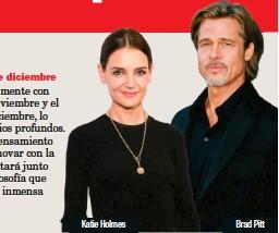 ??  ?? Katie Holmes Brad Pitt