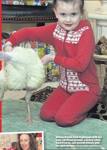 8fbc3f9f30 STEPHEN HAMILTON PRESSEYE. Athena Bryson from Poyntzpass with her early  Christmas present