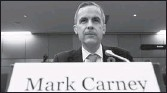 ??  ?? Bank of Canada Governor Mark Carney waits to testify before the Commons finance committee Tuesday.