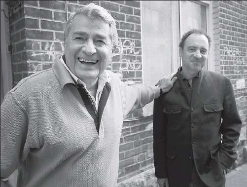 ?? PIERRE OBENDRAUF THE GAZETTE ?? Beloved crooner Michel Louvain (left) and Claude Demers met when Demers was making his previous documentary.