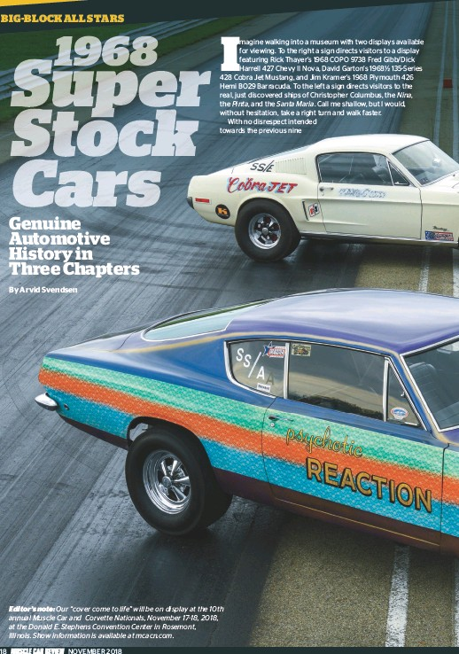 Pressreader Muscle Car Review 2018 11 01 The 1968 Super Stock Cars