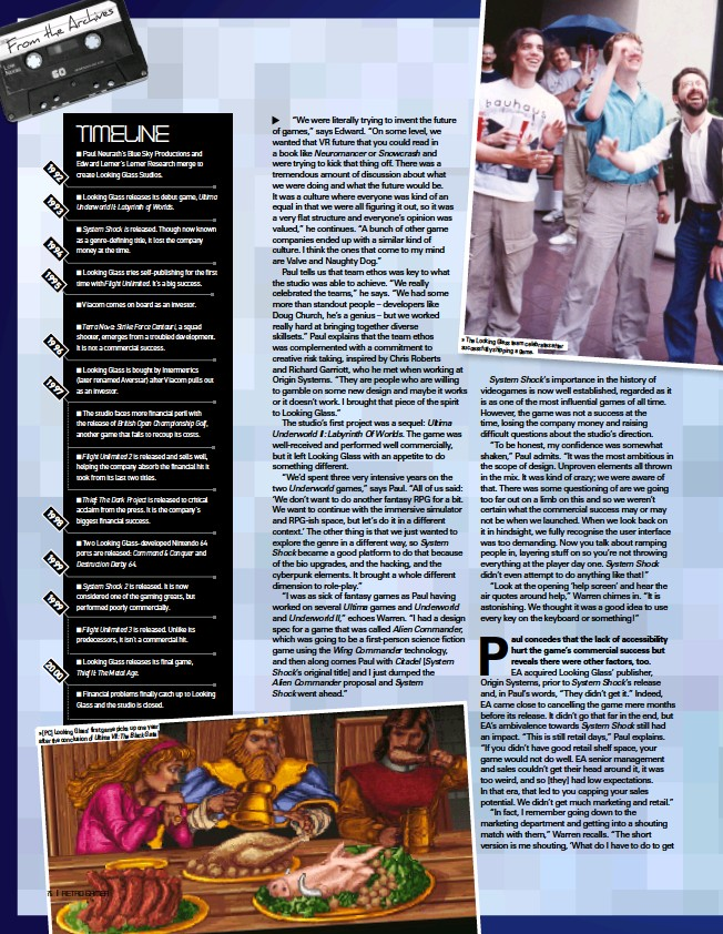 ??  ?? game picks up one year » [PC] Looking Glass' first Ultima VII: The Black Gate. after the conclusion of » The Looking Glass team celebrates after successfully shipping a game.