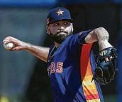 ?? Karen Warren / Staff photographer ?? Astros righthander Jose Urquidy has started a dozen games during the past two regular seasons.
