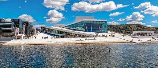 ??  ?? Oslo's spectacular opera house opened in 2008.