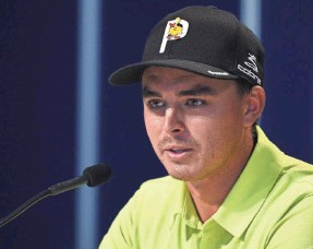 c6923c865f0 Rickie Fowler wore a Leuk the Duck pin on his hat Thursday in honor of  Jarrod Lyle