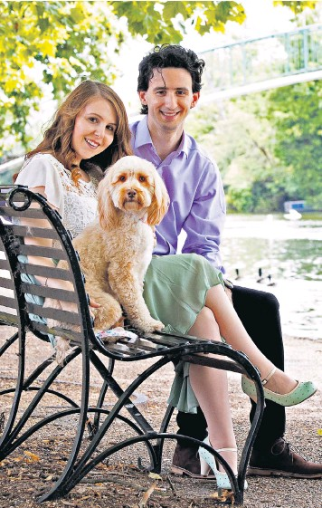 ??  ?? Shannon Thornett and James Doughty, with their pet dog, are going ahead with their wedding but restrictions are frustrating