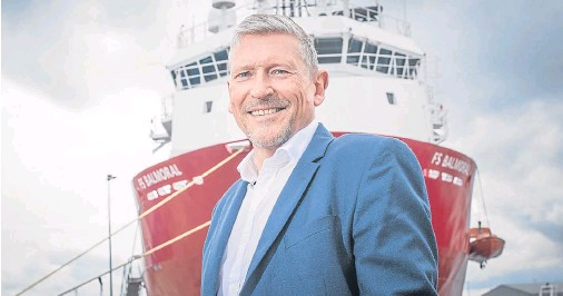 "??  ?? BUOY­ANT MOOD: Keith Fletcher says the ad­di­tion of two new ships to his fleet is in an­tic­i­pa­tion of a ""ris­ing mar­ket"""