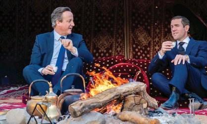 ??  ?? David Cameron and Lex Greensill in Saudi Arabia, January 2020.