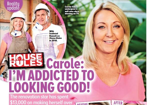 ??  ?? Carole has undergone a self-reno since starring on TV.