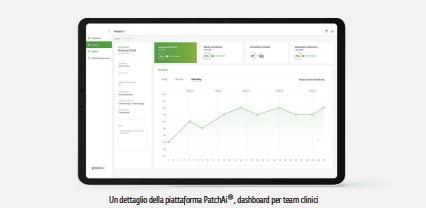 ??  ?? Un dettaglio della piattaforma PatchAi®, dashboard per team clinici