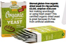 ??  ?? Bio­real gluten-free or­ganic dried yeast (5 x 9g sa­chets), £2.50, ship­ton-mill.com Not mak­ing sour­dough or us­ing fresh yeast? This cer­ti­fied or­ganic dried yeast is great be­cause it's free from ar­ti­fi­cial ad­di­tives.