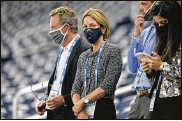 ?? JOSE JUAREZ / AP / FILE ?? Sheila Ford Hamp, Detroit Lions principal owner and chairman, watches her team in 2020. Hamp spoke at the league's fifth annual Women's Careers in Football Forum late last month.
