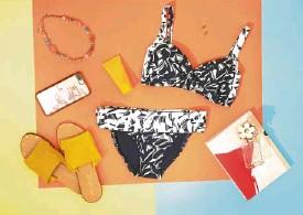 ??  ?? Horizon swimwear bikini set