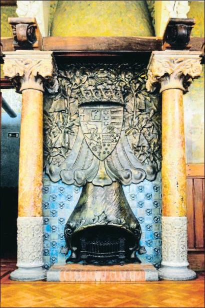?? VÍCTOR GÓMEZ ?? Chimenea del salón privado del palacio del Baró de Quadras en Barcelona