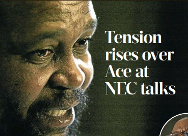??  ?? Joel Netshitenzhe, above, is said to have accused Ace Magashule, right, of bringing the ANC into disrepute.