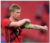 ??  ?? Star men…Kevin De Bruyne and Romelu Lukaku will be expected to deliver for Belgium this summer