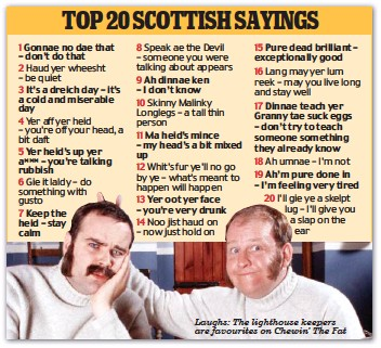 haud yer wheesht your scottish grannys favourite sayings