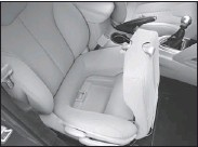 ??  ?? In-seat storage is among the spacious features of this so-called compact.