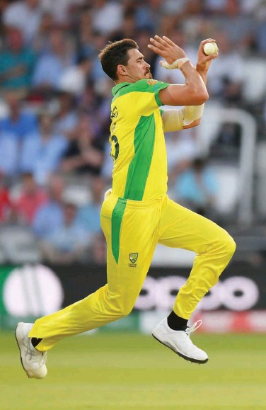 ?? File ?? Mitchell Starc took a record eighth five-wicket haul in the ODIS.