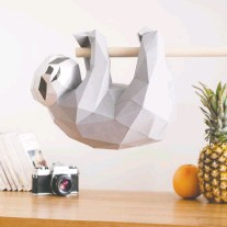 ?? PHOTO COURTESY OF SOFS DESIGNS ?? A quirky 3D sculpture of a sloth will add a lighthearted, soothing bit of decor to any home.