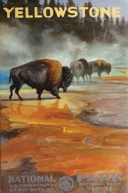 """??  ?? Grand Prismatic Bison, oil, 36 x 24"""""""