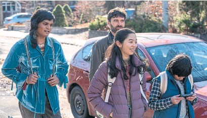 "?? CBC ?? Bilal Baig, left, as Sabi, Gray Powell as Paul, Kaya Kanashiro as Violet and Aden Bedard as Henry in the new series ""Sort Of."""