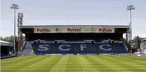 ?? Mike Petch ?? The future of Edgeley Park, home of Stockport County FC, could become clearer after tonight's executive meeting